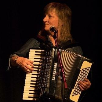 Fiona Maurice-Smith playing Accordian
